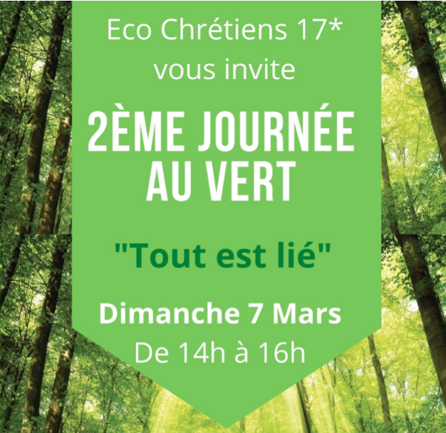 2ème rencontre ECO Chrétiens 17 – Dimanche 7 mars 2021