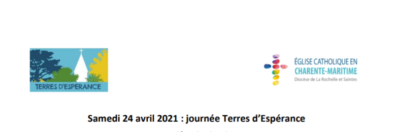 "Journée ""Terres d'Espérance"" – Samedi 24 avril 2021"