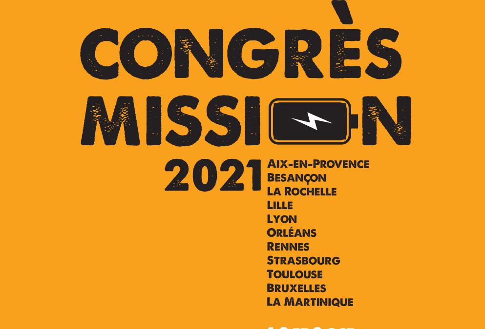 Invitation au Congrès Mission, 1,2 et 3 octobre 2021
